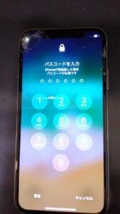 iphoneX画面割れ